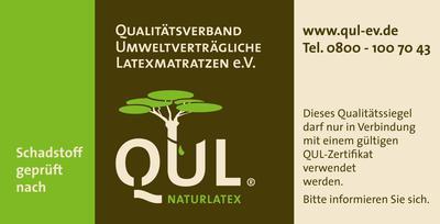 QUL Matratzenaufkleber garantiert strenge Tests durch den QUL